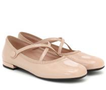 Ballerinas aus Lackleder