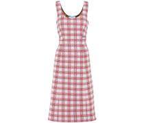 Kariertes Kleid aus Stretch-Jacquard