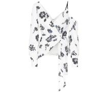 One-Shoulder-Bluse mit Pailletten