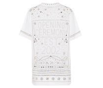 T-Shirt aus Baumwolle mit Nieten