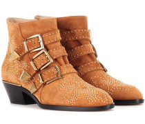 Exklusiv bei mytheresa.com – Ankle Boots Susanna aus Veloursleder