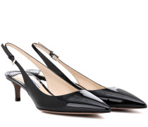 Kittenheel-Pumps aus Lackleder