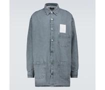 Wattiertes Oversize-Jeanshemd