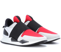 Sneakers Runner Elastic aus Leder