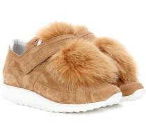 Sneakers Fox Runner mit Pelzbesatz