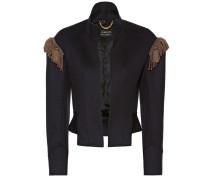 Verzierte Military-Jacke aus Wolle