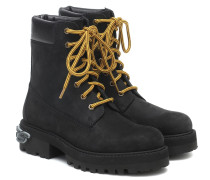 Ankle Boots Trucker aus Leder