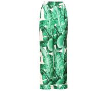 Bedruckte Hose aus Seidentwill