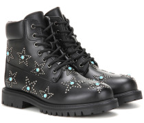 Garavani Boots Starstudded aus Leder