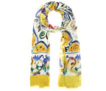 Schal aus Cashmere-Gemisch mit Majolika-Print