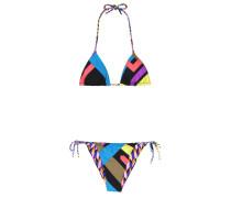 Wendbarer Triangel-Bikini mit Print