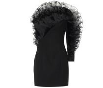 Minikleid aus Chiffon und Wolle