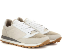 Verzierte Sneakers Paper Effect mit Leder