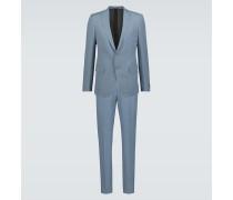 Anzug aus Wolle und Leinen