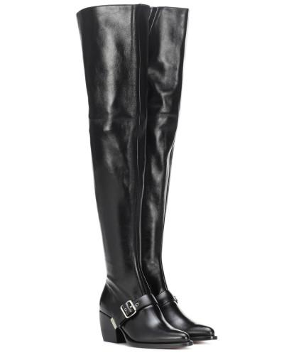 Overknee-Stiefel Rylee aus Leder
