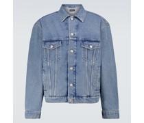 Oversize-Jeansjacke mit Waschung