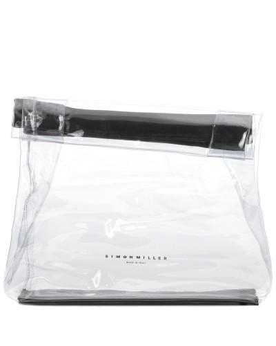 Transparente Clutch Lunchbag 30 mit Leder