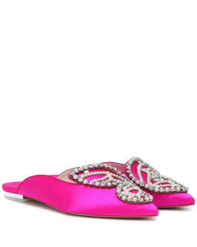 Slippers Bibi Butterfly Pearl aus Satin
