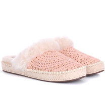 Slippers Aira Sunshine aus Veloursleder