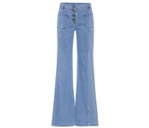 Flared Jeans aus Baumwolle
