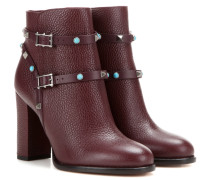 Ankle Boots Rockstud Rolling aus Leder
