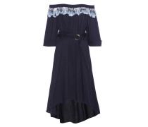 Kleid aus einem Baumwollgemisch mit Spitze