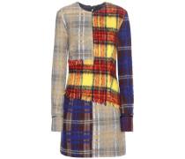 Kariertes Kleid Ebele aus einem Wollgemisch