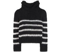 Gestreifter Pullover aus Woll-Mohair-Gemisch