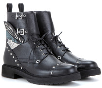 Verzierte Leder-Boots