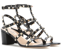Garavani Blockabsatz-Sandaletten Rockstud aus Leder
