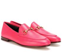Loafers aus Leder mit Horsebit-Detail