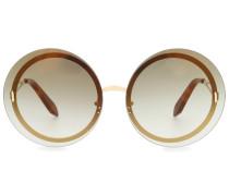 Runde Oversize-Sonnenbrille