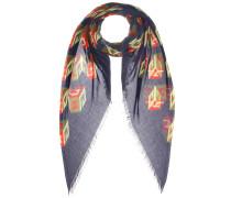 Bedruckter Schal aus einem Seidengemisch