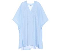 Gestreiftes Kimono-Kleid aus Baumwolle