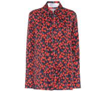 Bedruckte Bluse aus Satin