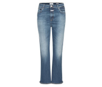 High Rise Slim Jeans Rose in Cropped-Länge