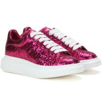 Sneakers Larry aus Metallic-Leder und Glitter