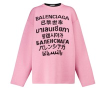 Pullover Languages aus Wolle