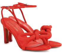 Sandalen Sculptural Bow aus Veloursleder