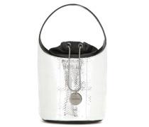 Bucket-Bag Mini Miranda aus Metallic-Schlangenleder