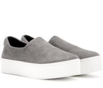 Plateau-Sneakers aus Veloursleder