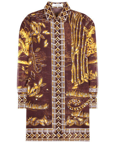 Gemusterte Bluse aus Baumwollchiffon