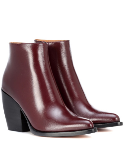 Ankle Boots Rylee Low aus Leder