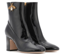Ankle Boots aus Lackleder