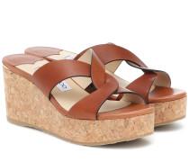 Wedge-Sandalen Atia 75 aus Leder