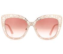 Sonnenbrille mit Cat-Eye-Rahmen