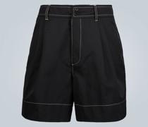 Shorts mit Doppelfalten