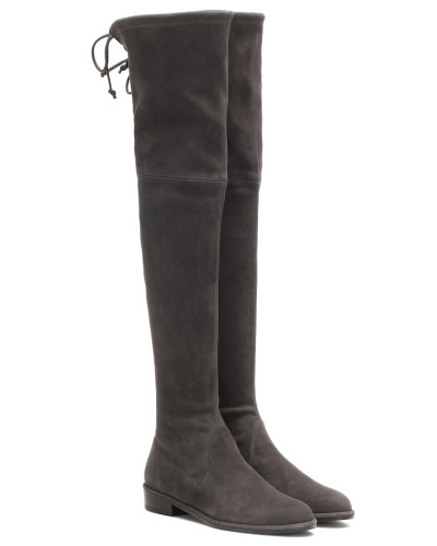 Overknee-Stiefel Lowland aus Veloursleder