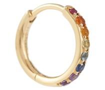 Einzelner Ohrring Chakras Rainbow Piercing aus 18kt Gelbgold