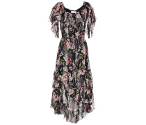 Schulterfreies Kleid aus Seide
